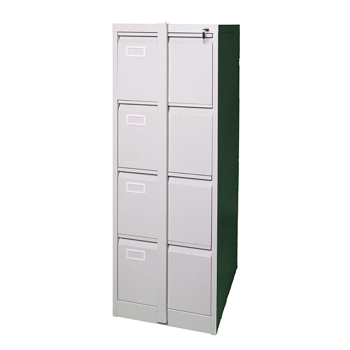 4 Drawer Steel Filing Cabinet With Security Crossbar